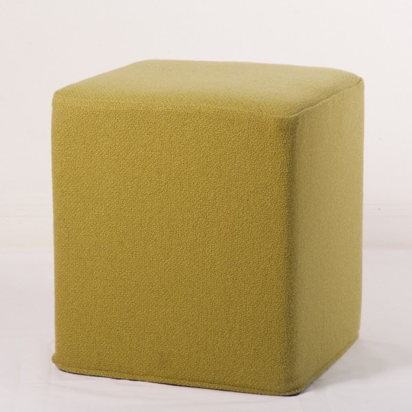 Cube Footstool in Bute fabric