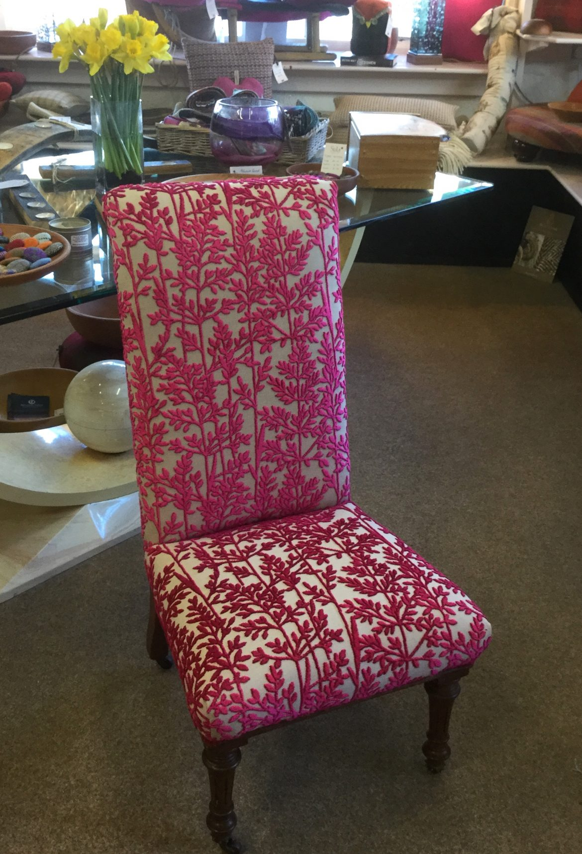 Nursing Chair Recovered in Voyage Batur Fabric