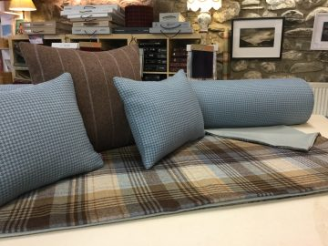 Using the best of Scottish fabrics.