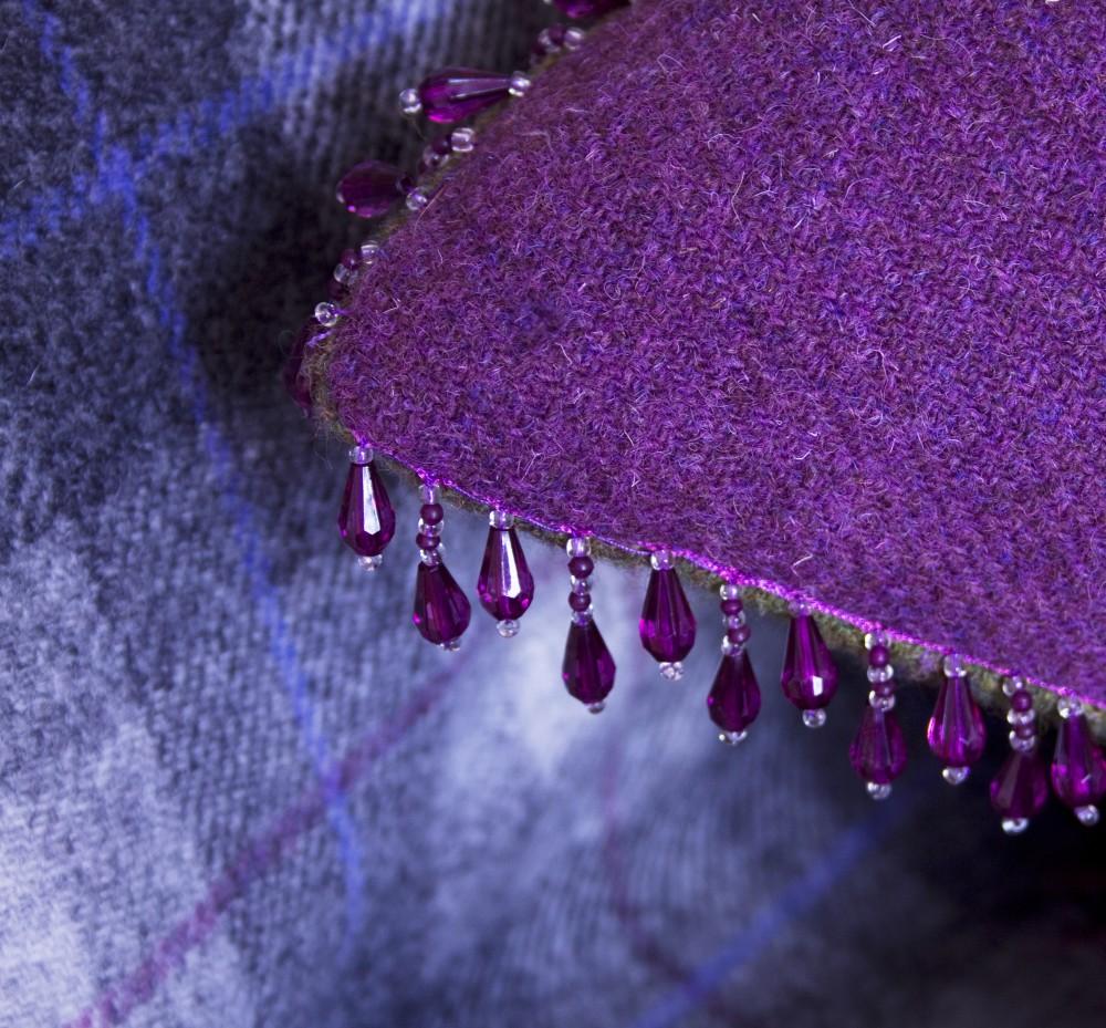 Harris Tweed & beads