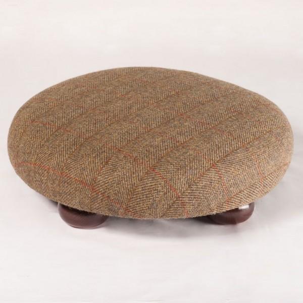 Harris Tweed Footstool Traditional check